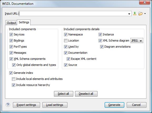 Generating Documentation for WSDL Documents - Oxygen 18 1