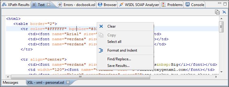 Oxygen XML Editor plugin Text View - Oxygen 18 1