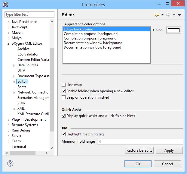 Oxygen XML Author Eclipse Plugin 18 1 - Oxygen 18 1